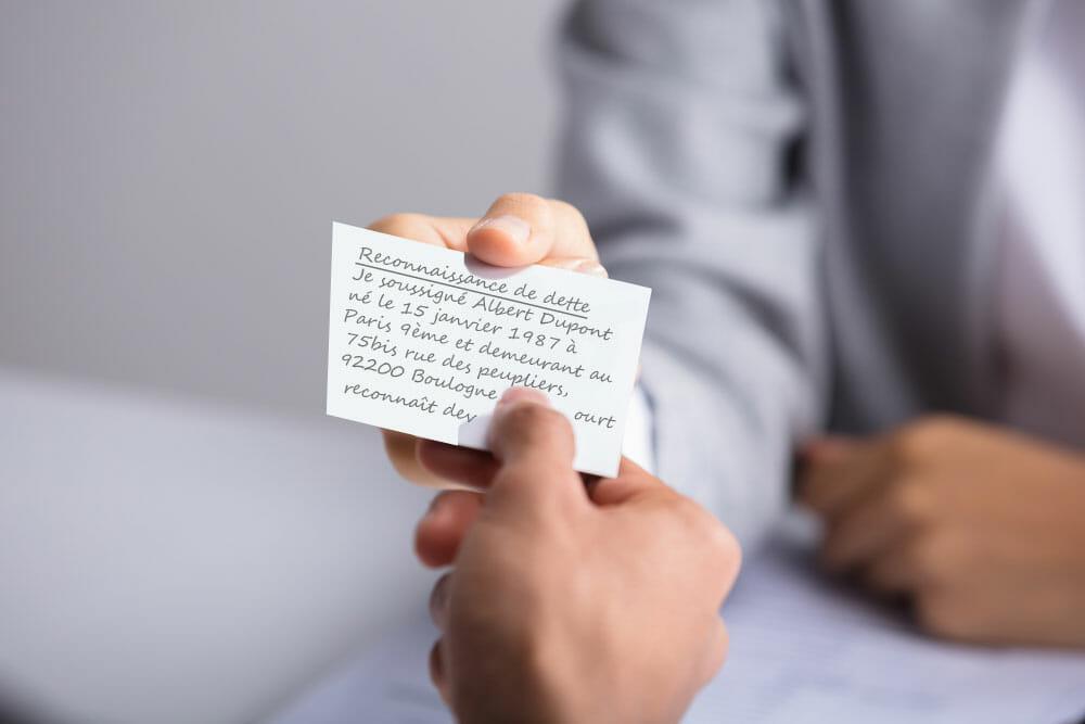 Reconnaissance de dette ou contrat de prêt?